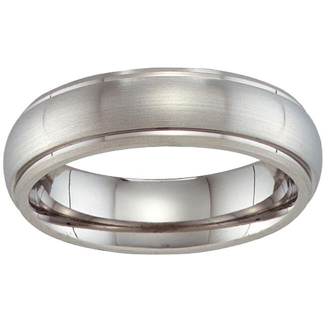 Unisex Titanium Beveled Band (6 mm)