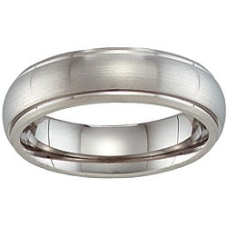 Unisex Titanium Beveled Band (6 mm)
