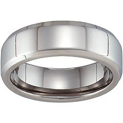 Unisex Titanium Beveled Band