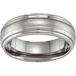 Unisex Aircraft Grade Titanium Grooved Band