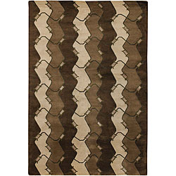 "Hand-Knotted Mandara New Zealand Wool Area Rug (7'9"" x 10'6"")"