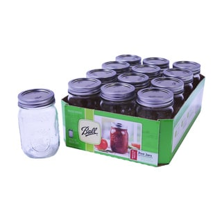 Ball 16-ounce/ Pint Mason Jars (Set of 12)