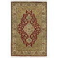 Hand-knotted Soldeu Wool Rug (2'6 x 8') with Free Rug Pad