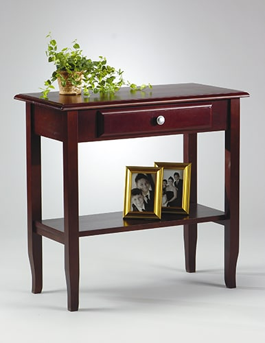 Merlot Foyer Table with Drawer and Shelf
