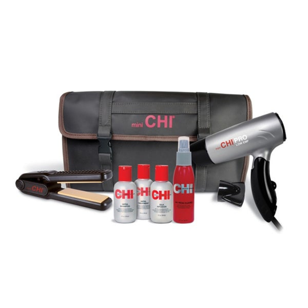 Farouk CHI Mini Flat Iron/ Blow Dryer/ Travel Bag Set