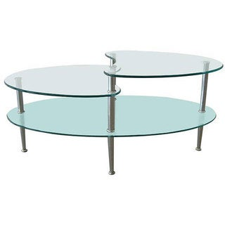 Metal Coffee Table with Frosted Glass