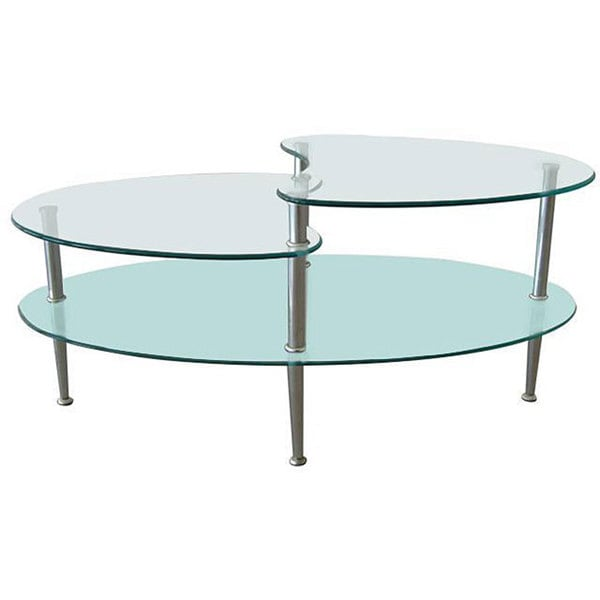 Metal Coffee Table With Frosted Glass Overstock Shopping Great Deals On Walker Edison Coffee