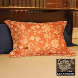 Soft Microsuede Floral Shams (Set of 2)