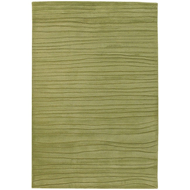 Hand-tufted Lucine Green Wool Rug (5' x 7'6)