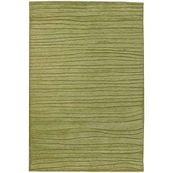 Hand-Tufted Mandara Spring-Green Wool Rug (7'9 x 10'6)