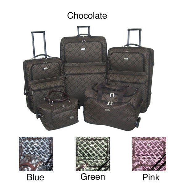 American Flyer Pemberly Buckles 5-pc Luggage Set