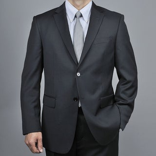 Mantoni Men's Black Wool 2-button Suit