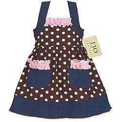 Sweet Jojo Designs Infant Girl's Polka Dot Denim Dress