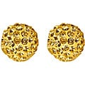 14k Yellow Gold Jonquil Crystal Ball Earrings