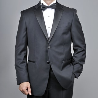 Mantoni Men's Black Wool 2-button Tuxedo