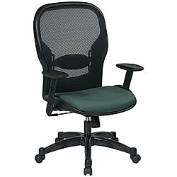 Office Star Space Series Air Grid Backed Green Fabric Seat Chair
