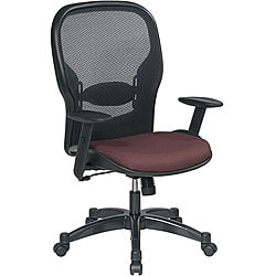 Office Star Space Series Air Grid Backed Maroon Fabric Seat Chair