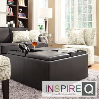 Inspire Q Avenue Faux Leather Multipurpose Storage Ottoman