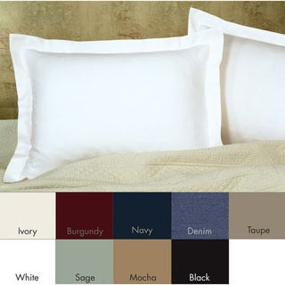 Poplin Tailored Decorative Pillow Shams (Pack of 2)