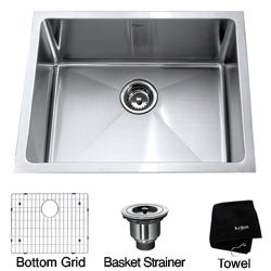 Kraus 23-inch Undermount Single Bowl Stainless Steel Kitchen Sink