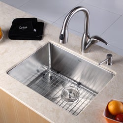 Kraus 23-inch Undermount Single Bowl Steel Kitchen Sink