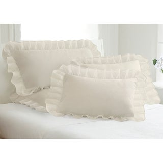 Cotton Blend Poplin Ruffled Pillow Shams (Pack of 2)