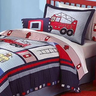 'Fireman' 3-piece Quilt Set