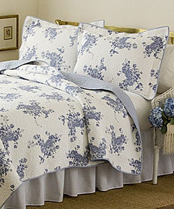 'Melissa Blue' 3-piece Quilt Set