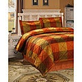 Royal Court 3-piece Rust Duvet Cover