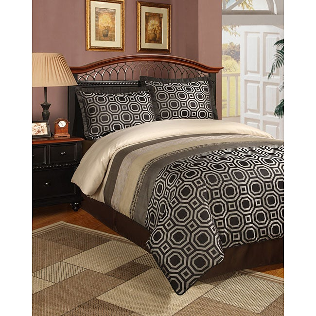 Deco 3-piece Black Duvet Cover