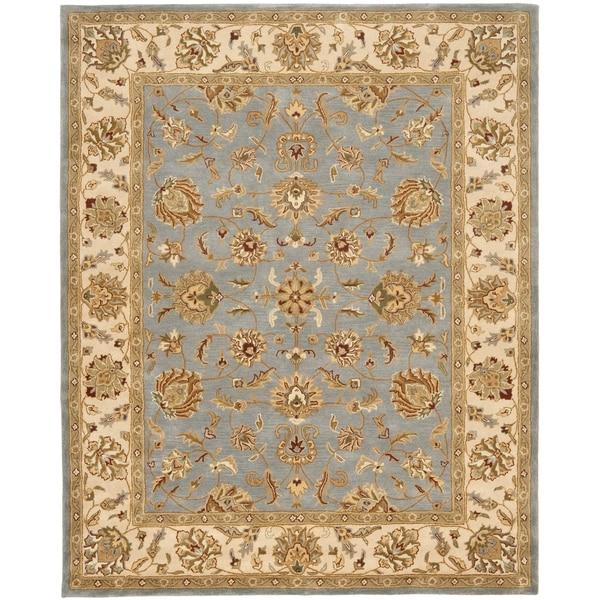 Safavieh Handmade Heritage Kerman Blue/ Beige Wool Rug (9'6 x 13'6)