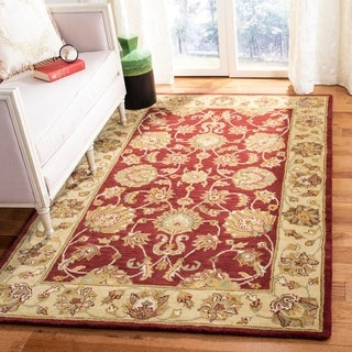Safavieh Handmade Heritage Kerman Red/ Gold Wool Rug (5' x 8')