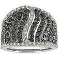 Miadora Sterling Silver 2ct TDW Black Diamond Ring (H-I, I1-I2)