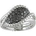 M by Miadora Sterling Silver 1/2Ct TDW Fancy Black Diamond Ring