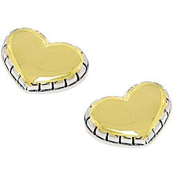 14k Goldtone Heart Earrings
