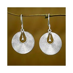 Sterling Silver 'Idea' Earrings (Indonesia)