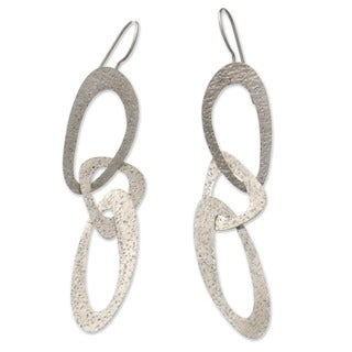 Sterling Silver 'Futuristic' Earrings (Indonesia)