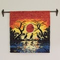 Wool 'Sunset in Manu' Tapestry (Peru)
