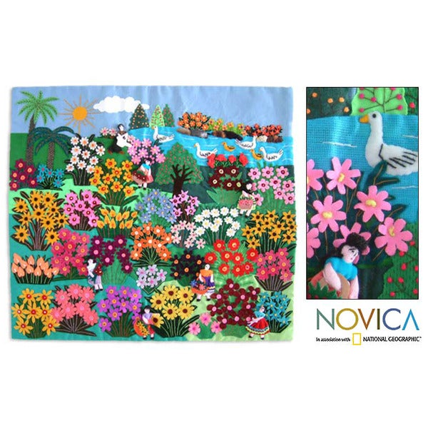 Applique 'World of Nature' Wall Hanging (Peru)