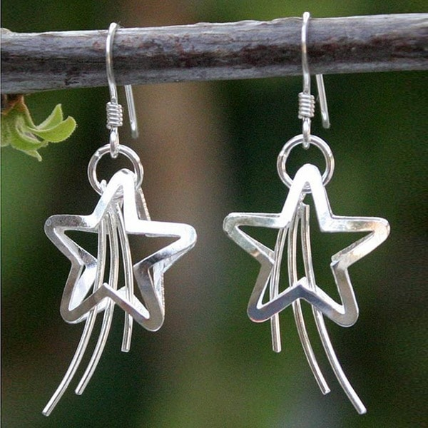 Sterling Silver 'Shooting Stars' Earrings (Thailand)