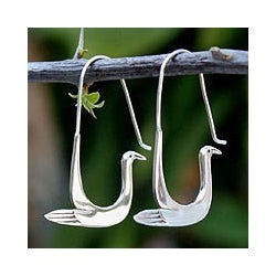 Sterling Silver 'Silver Dove' Earrings (Thailand)