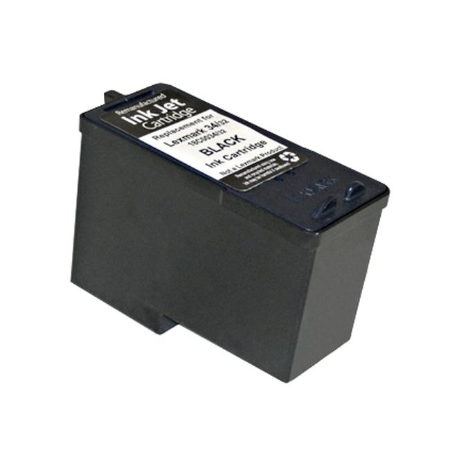 Lexmark 34 Compatible Black Ink Cartridge (Remanufactured)