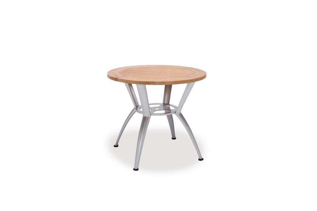 Infinity Teak Aluminum 36 Inch Round Dining Table 12647516