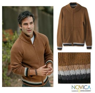 Alpaca Wool 'Cinnamon Elite' Jacket (Peru)