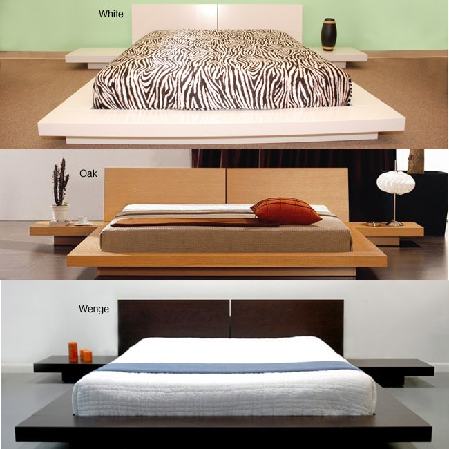 fujian 3 piece king size platform bedroom set overstock