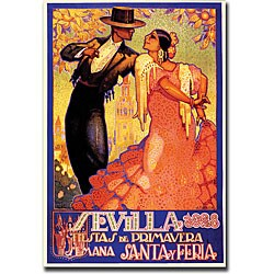 Da Pena 'Sevilla Fiestas de Primavera' Gallery-wrapped Canvas Art