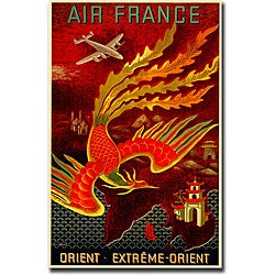 Lucien Boucher 'Air France Orient Extreme' Extra-Large Canvas Art