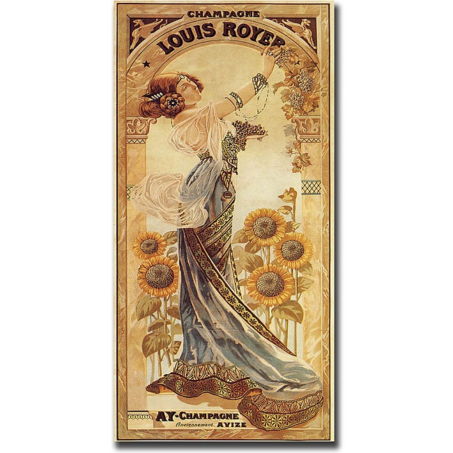 'Champagne Louis Royer' Gallery-wrapped Canvas Art
