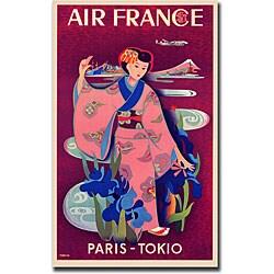 Taruchi 'Air France Paris Tokyo' Canvas Art