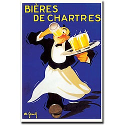 'Bieres de Chartres' Gallery-wrapped Canvas Art